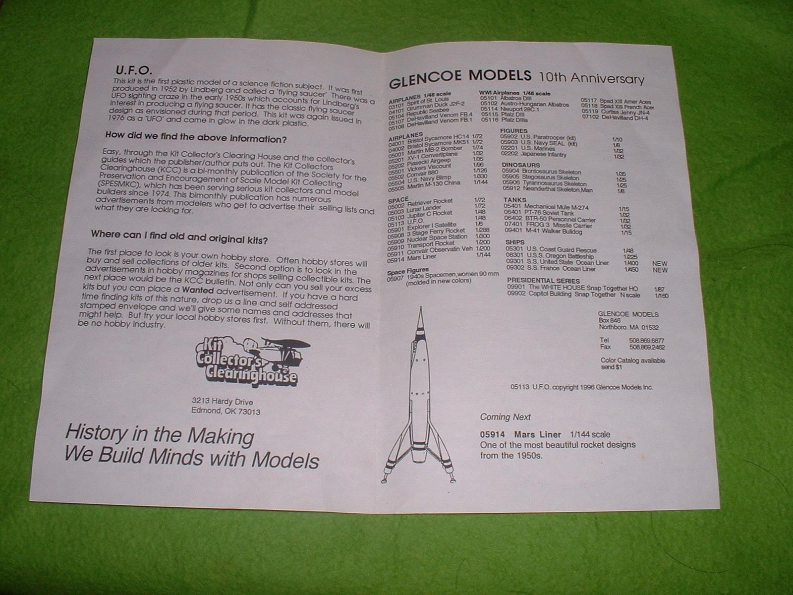 1997年ごろ再販 グレンコモデル「UFO」組立説明図その2.JPG