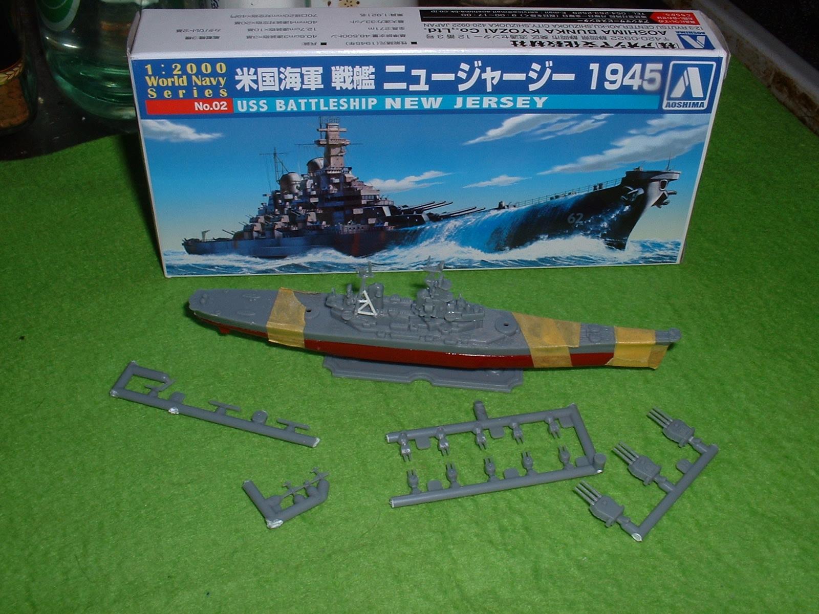 2013年11月10日 模型ネタ 青島 WNS No.2「ニュージャージー 1945」 Doburoku-TAO.JPG