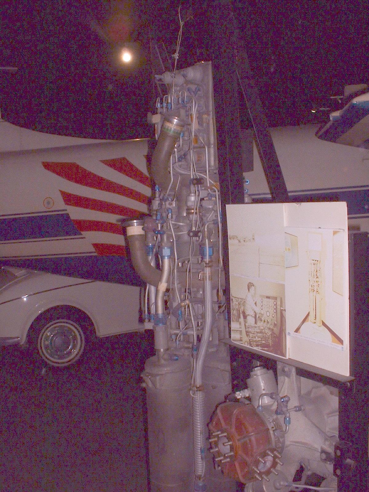2013年12月08日 大阪 港区「交通科学館」所蔵 「X1ロケットエンジン」撮影Doburoku-TAO.JPG