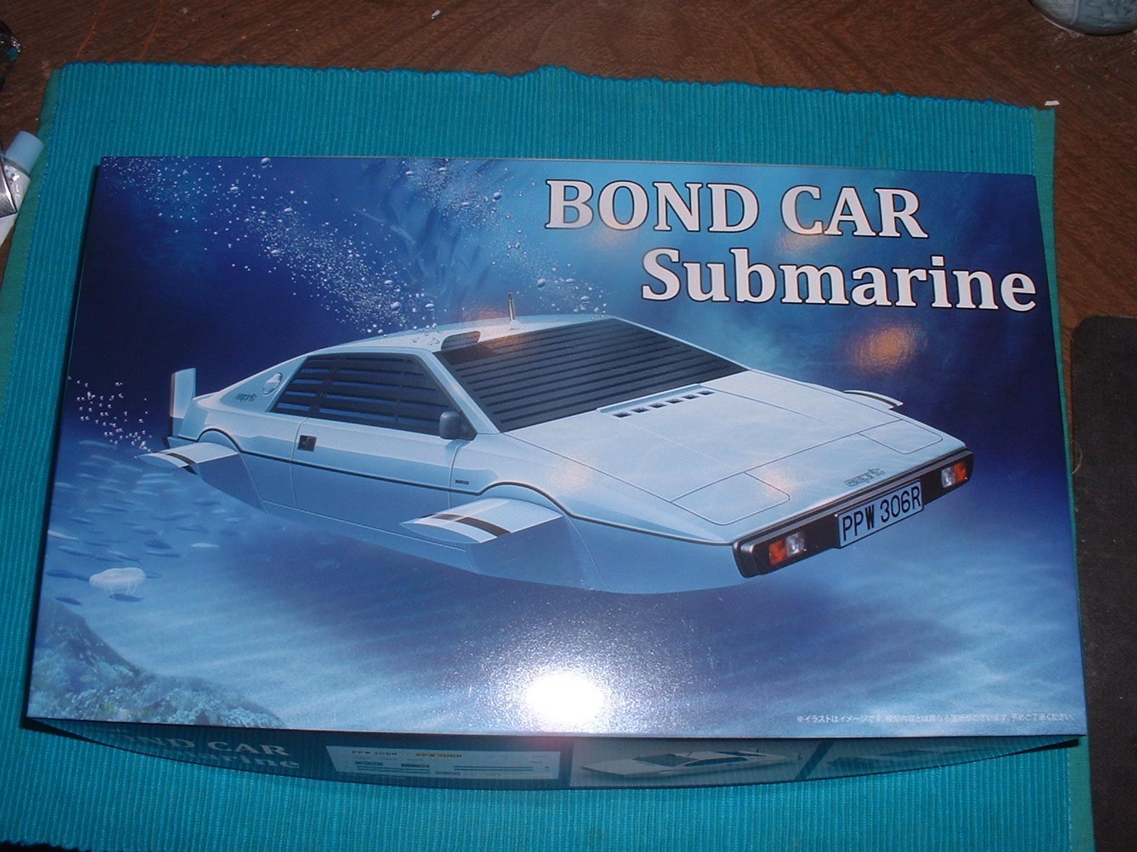 2015年12月発売 フジミ 24分の1「ボンドカー サブマリン」.JPG