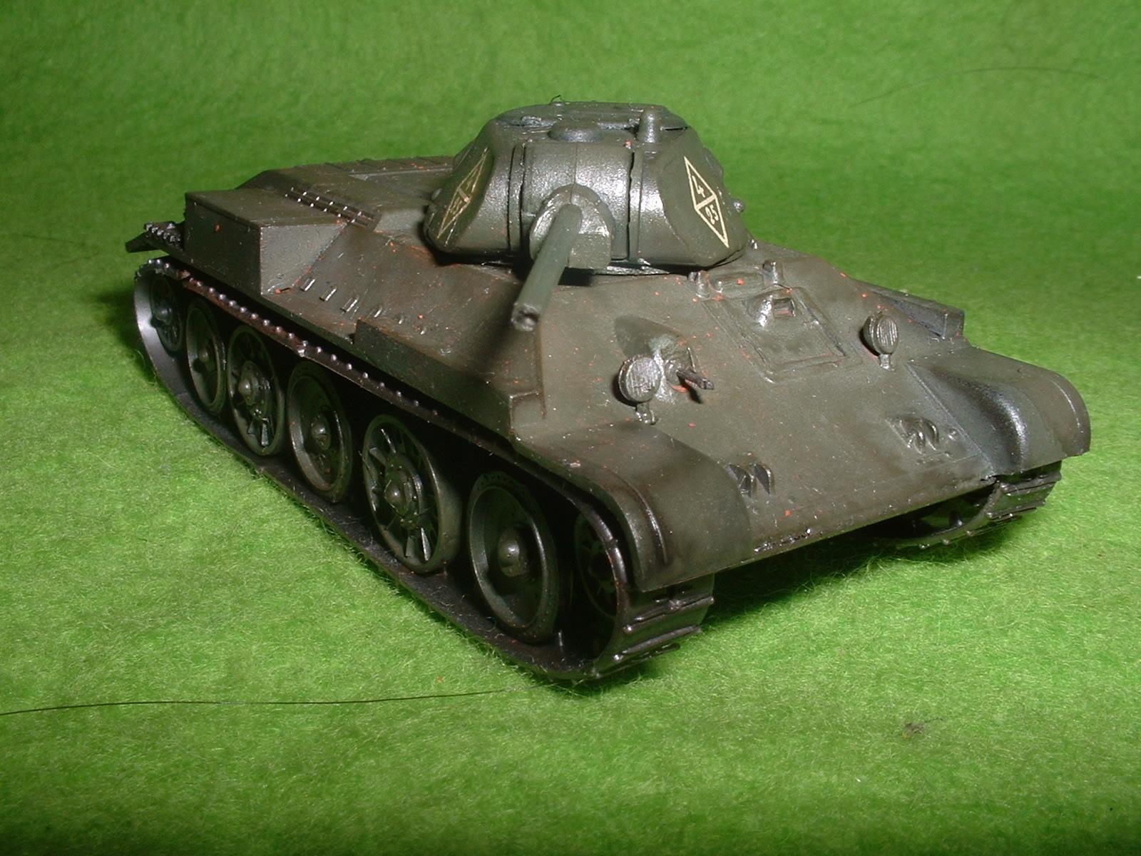 2016.01 .03完成  フジミ 76分の1 「T-34 76A 」戦車その1.JPG