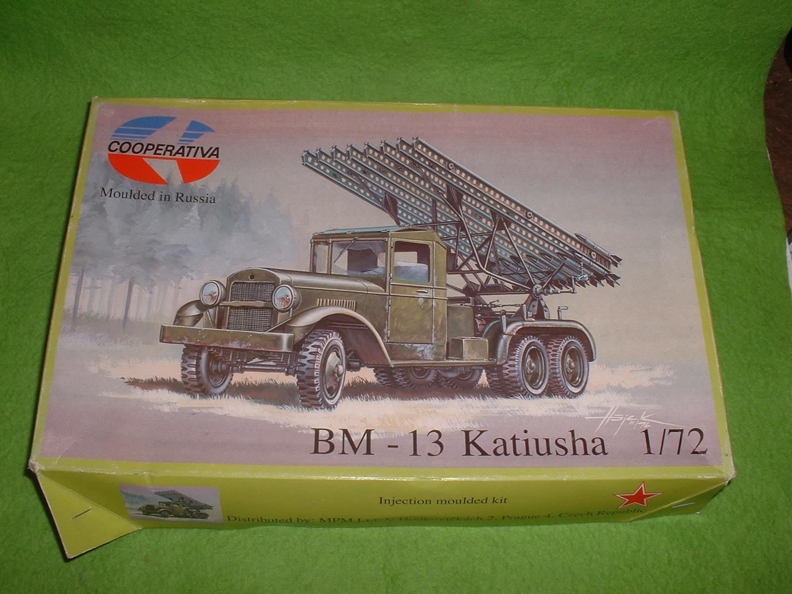 2016年11月12日完成 クープス 72分の1「BM-13カチューシャ」 外箱.JPG