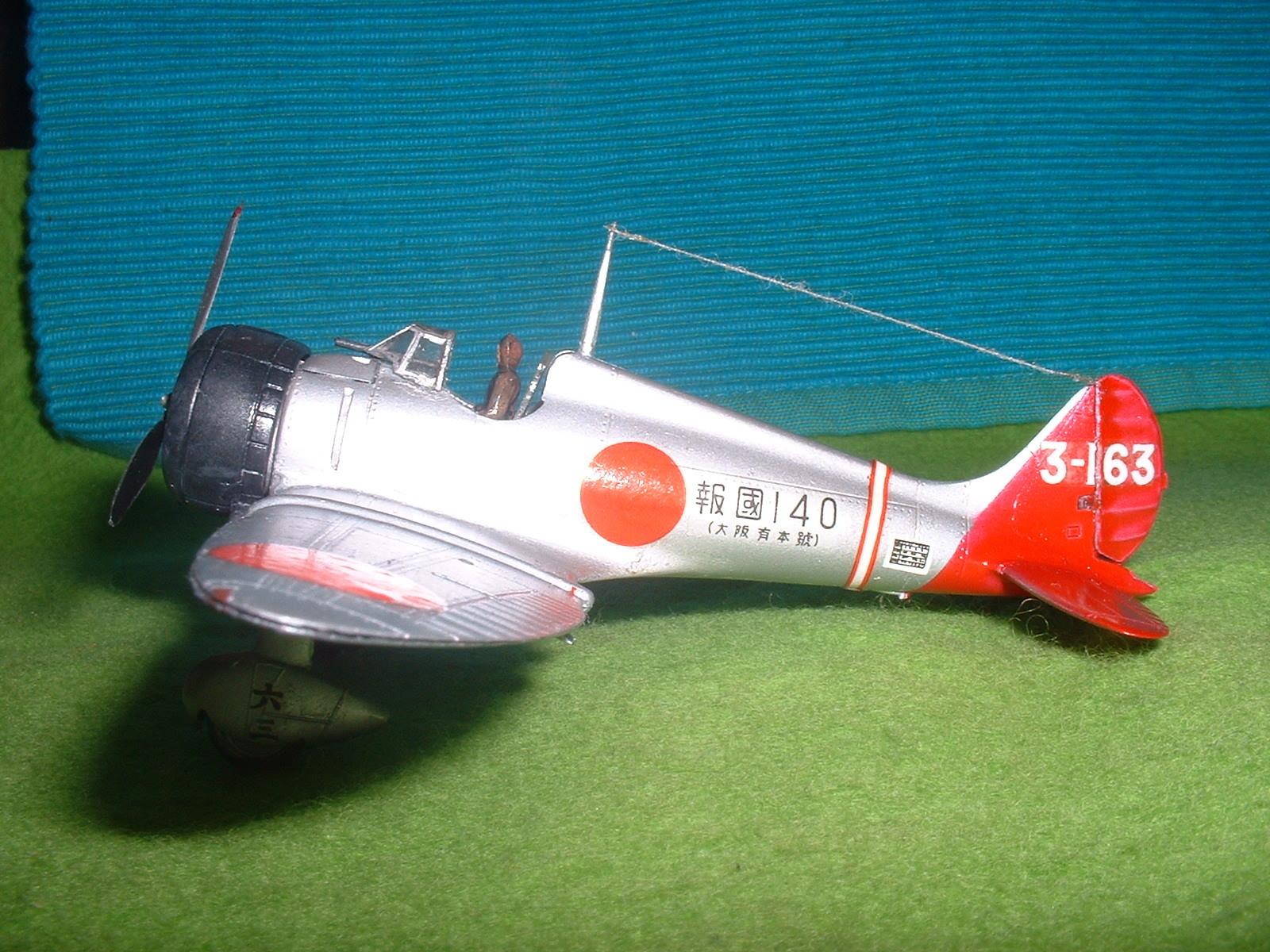 2016年3月27 日完成 日本模型(ニチモ)72分の1「九六艦戦」その4.JPG
