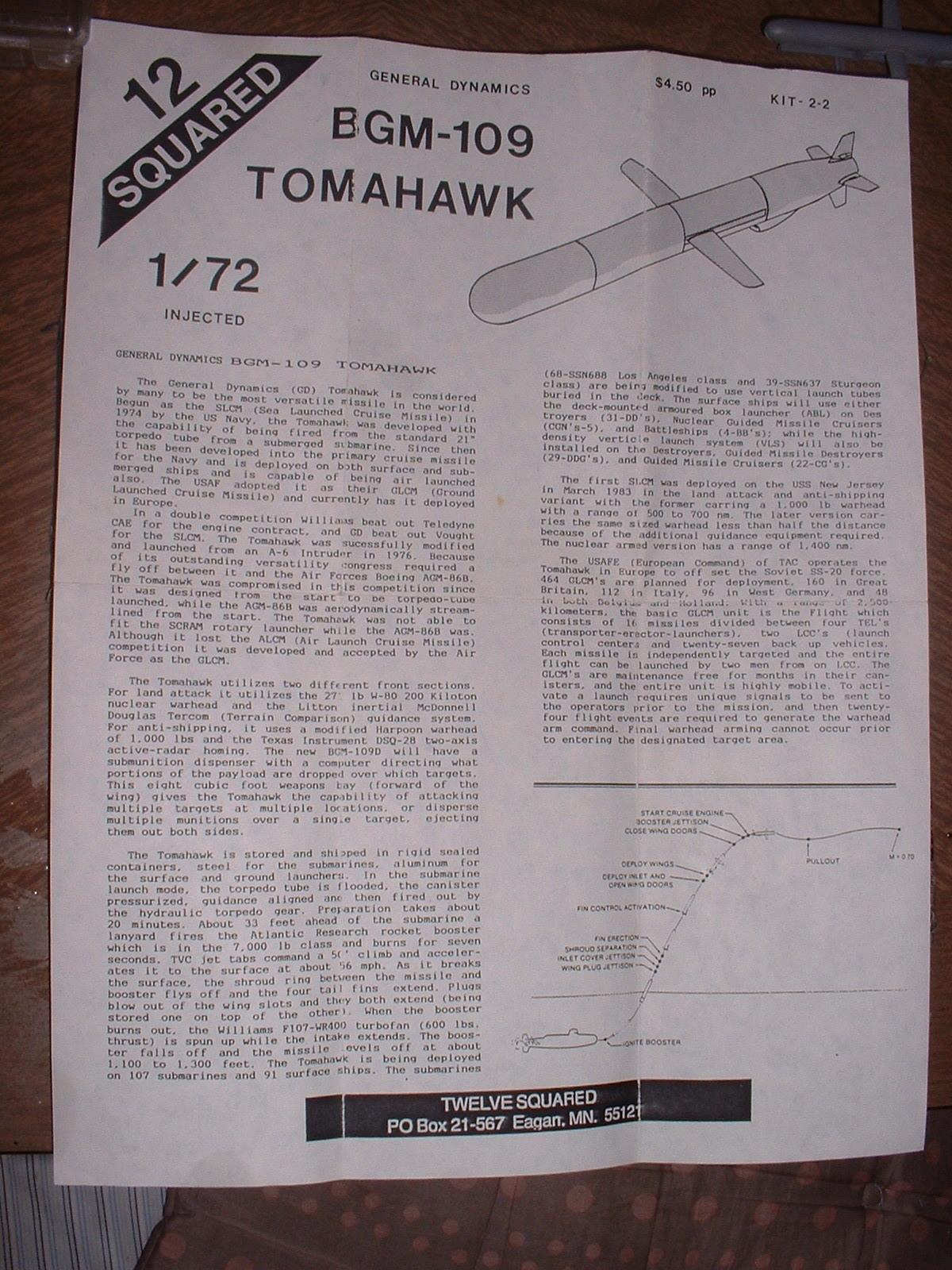 2017年7月2日完成12SQURAD製72分の1「BGM-109 トマホーク」組立説明図その1.JPG