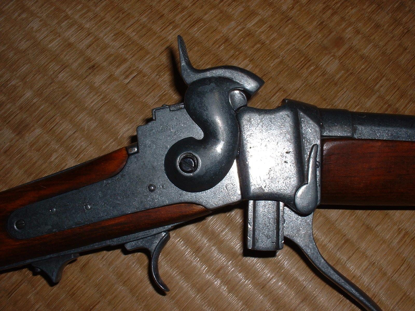 Denix「シャープス ライフル」閉鎖機構 開状態その2 Doburoku-TAO.JPG