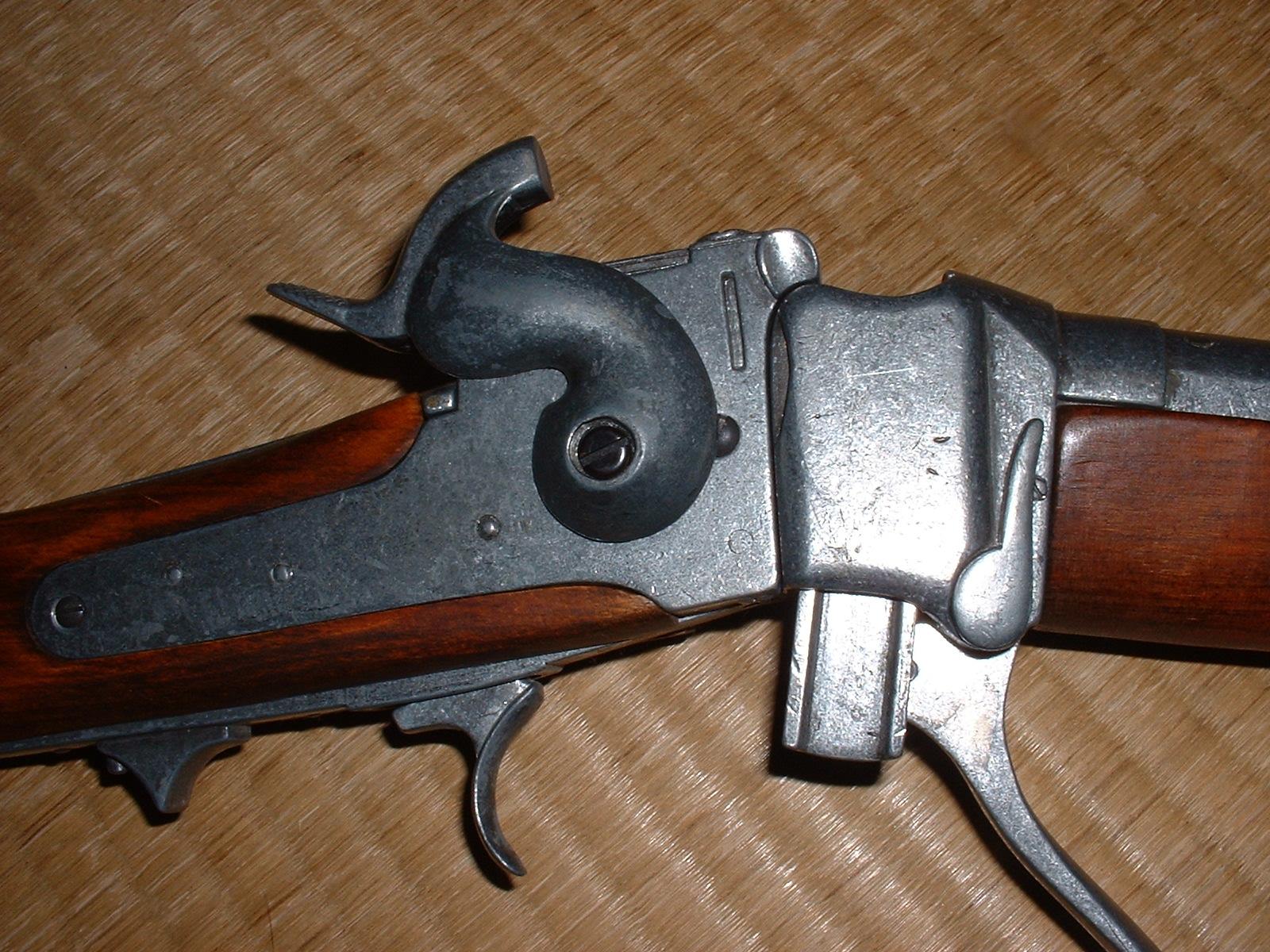 Denix「シャープス ライフル」ハンマー コッキング状態 Doburoku-TAO.JPG