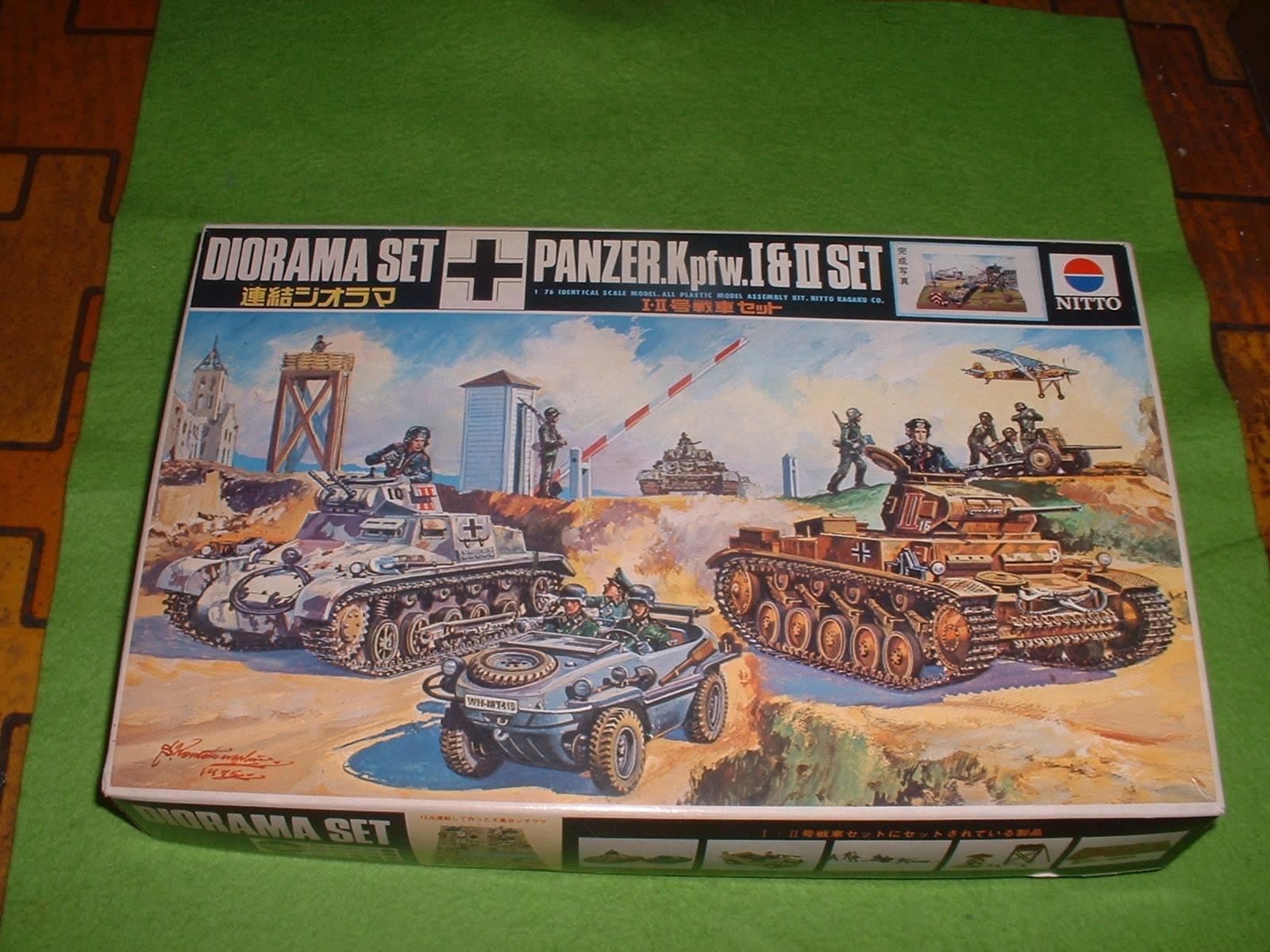 日東 76分の1 連結ジオラマ「1・2号戦車 セット」.JPG