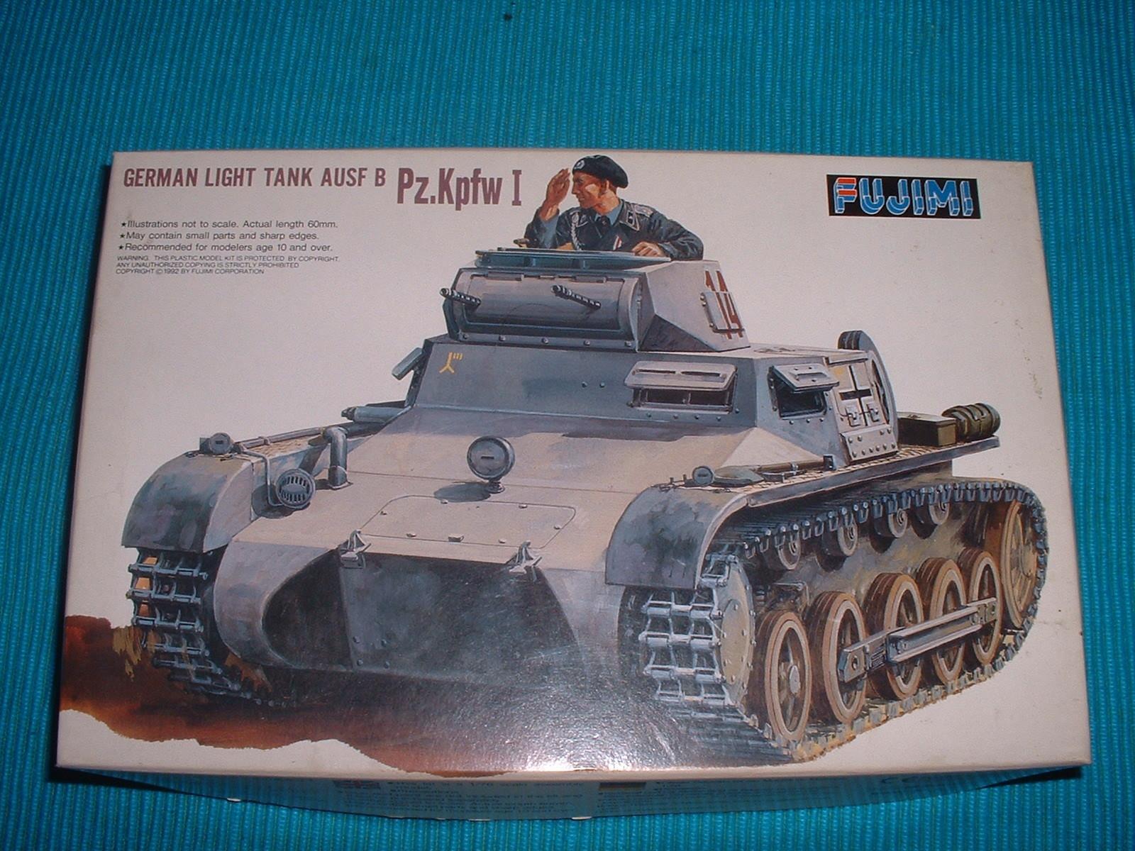 フジミ 76分の1 「1号戦車B型」 90年代販売外箱.JPG