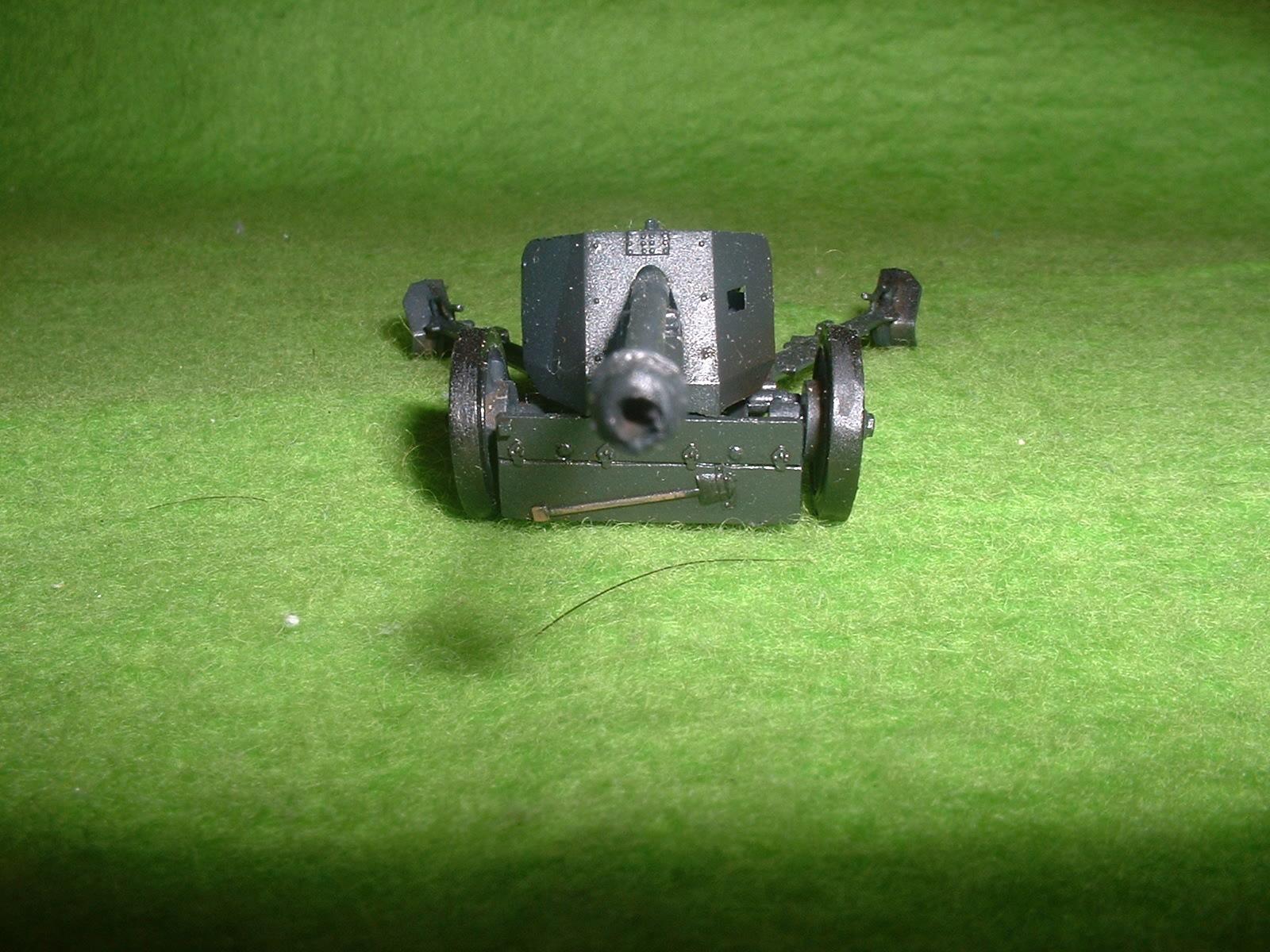フジミ 76分の1 「1号戦車B型」 付属『75㎜対戦車砲」その1.JPG