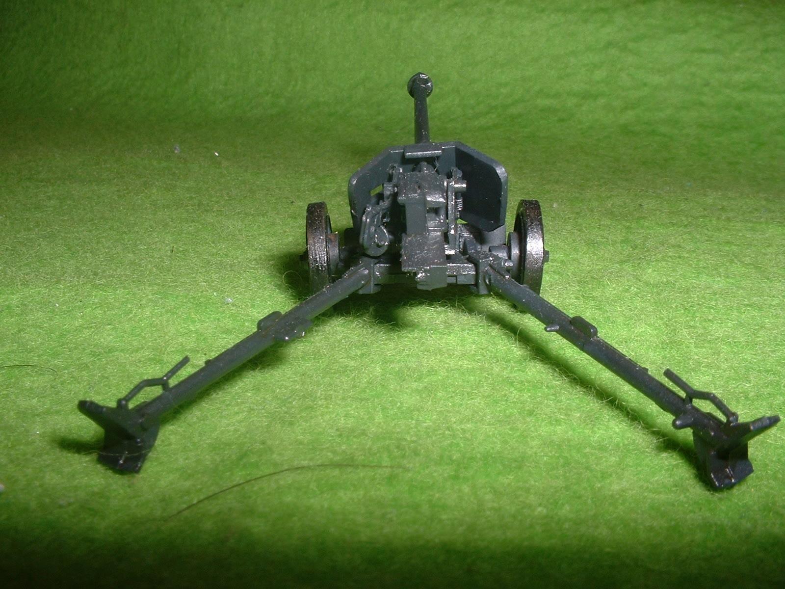 フジミ 76分の1 「1号戦車B型」 付属『75㎜対戦車砲」その2.JPG