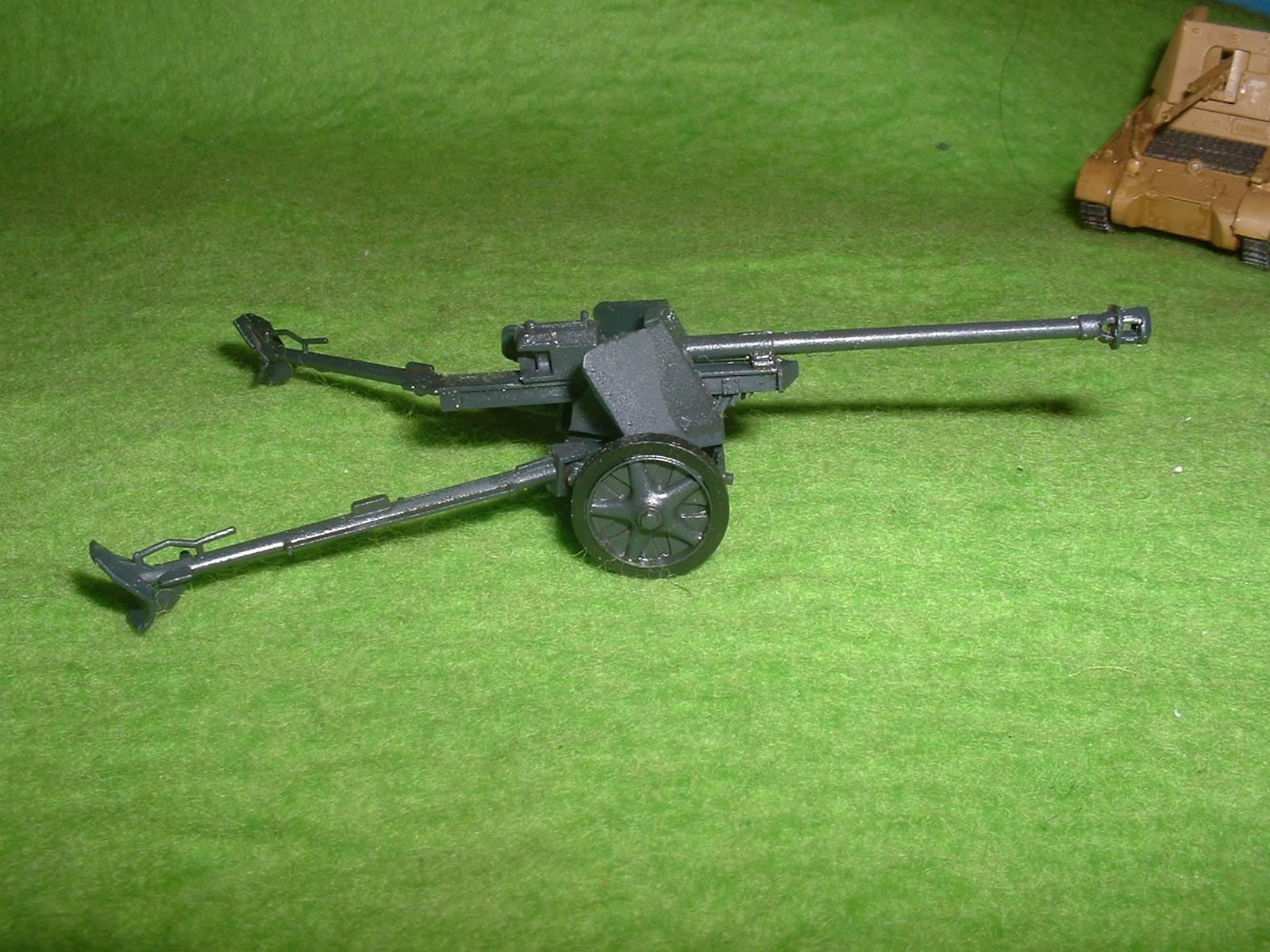 フジミ 76分の1 「1号戦車B型」 付属『75㎜対戦車砲」その4.JPG