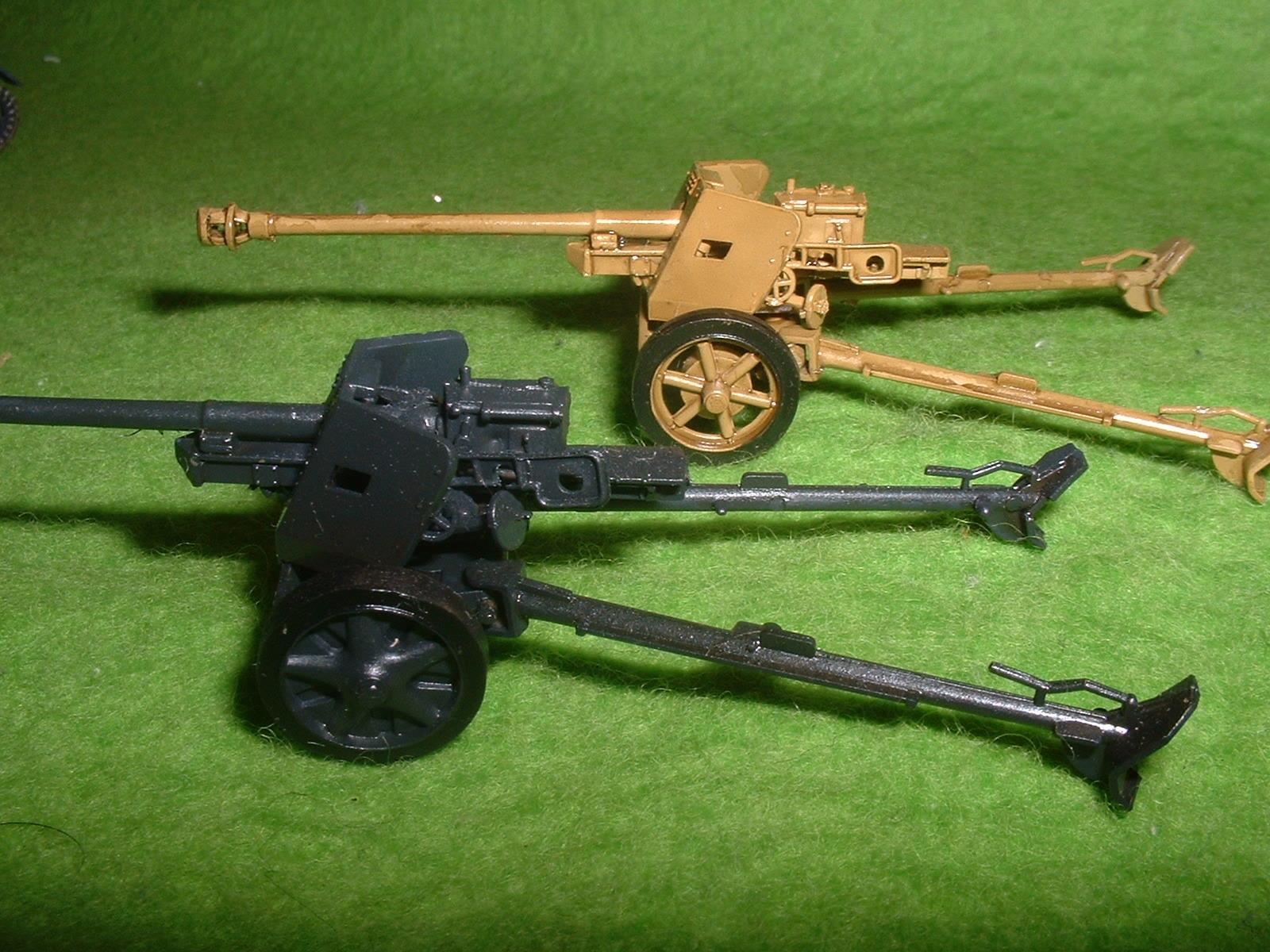 フジミ 76分の1 「1号戦車B型」 付属『75㎜対戦車砲」その7.JPG