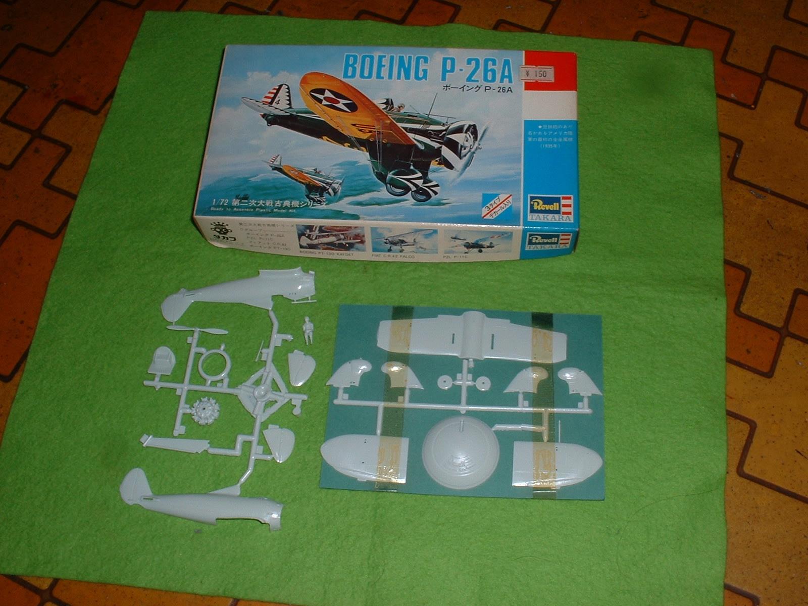 手持ち模型 タカラレベル 72分の1「ボーイング P26A」 Doburoku-TAO.JPG